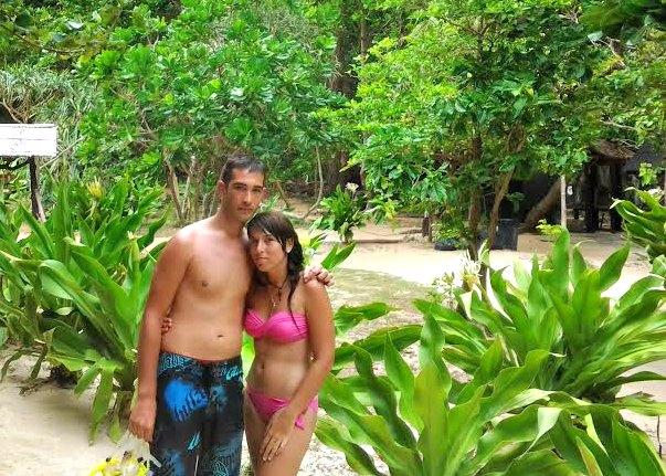 Miriam y su chico en Tailandia