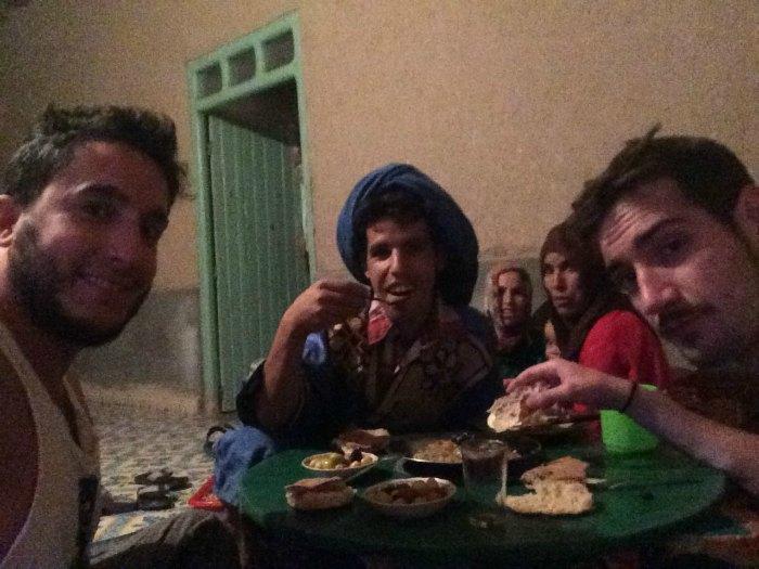 Cena con nuestro amigo Moha